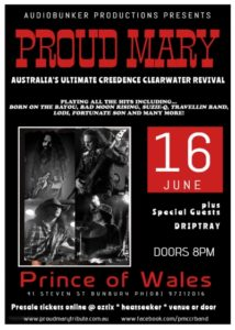 Upcoming Events – PROUD MARY CCR TRIBUTE SHOW – The Prince Hotel