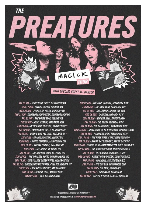 The Preatures - Magick Tour Poster (Small)