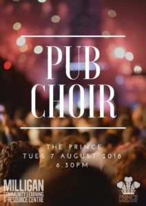 Upcoming Events – PUB CHOIR – The Prince Hotel