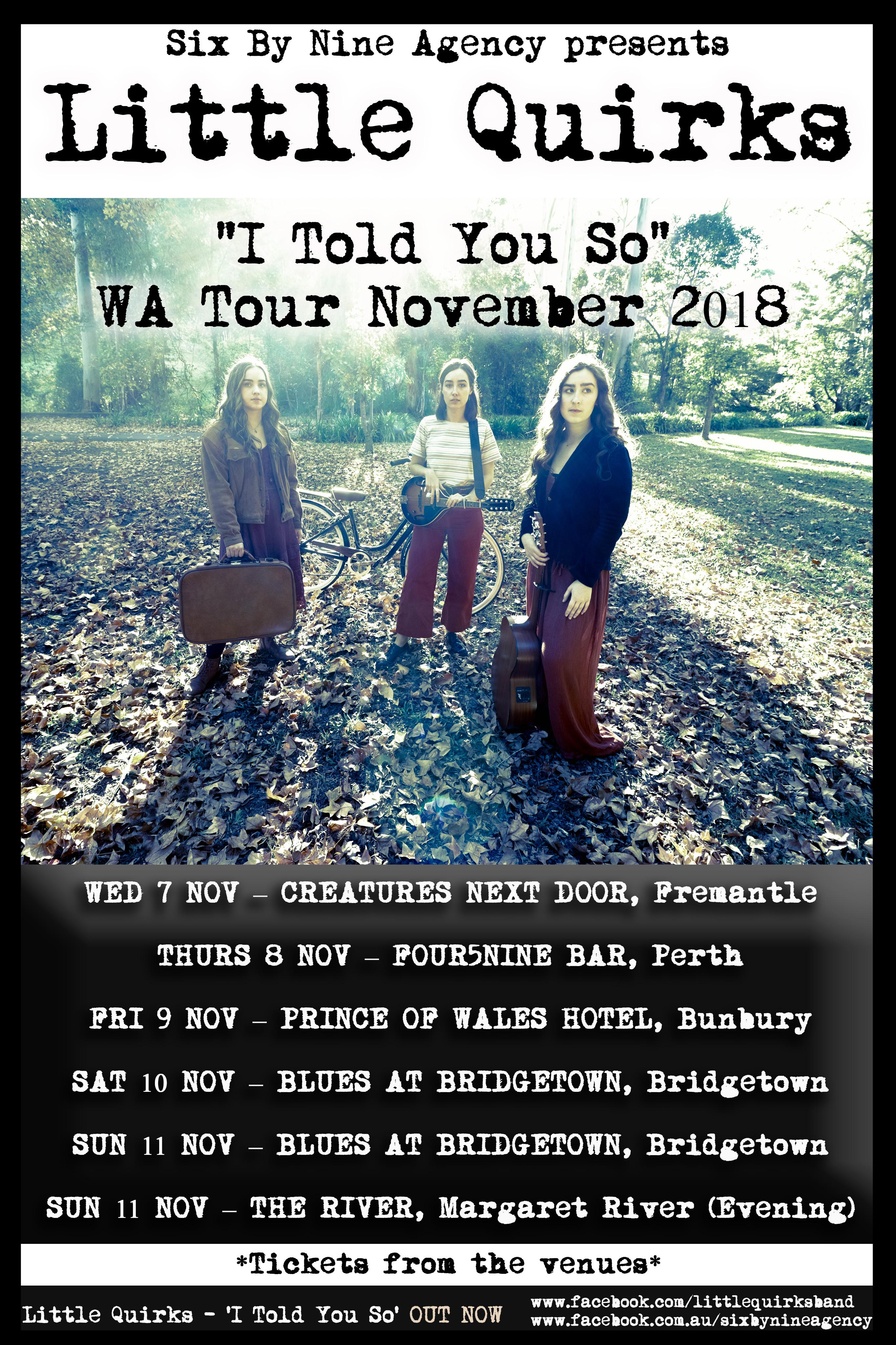 LQ WA Tour Poster - November 2018