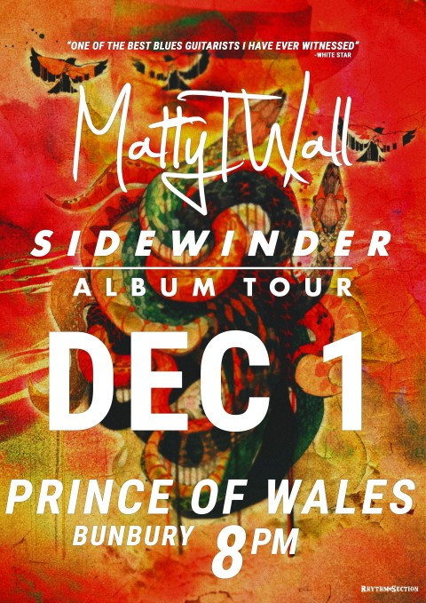 SIDEWINDER TOUR POSTER - PRINCE OF WALES (Small)