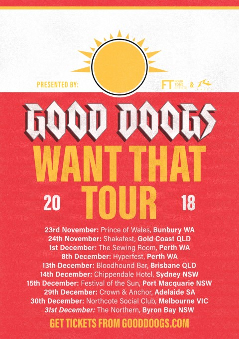 Good Doogs Tour Poster Novdec 2018 (Small)