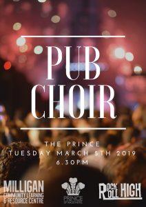 Pub Choir - poster - March2019