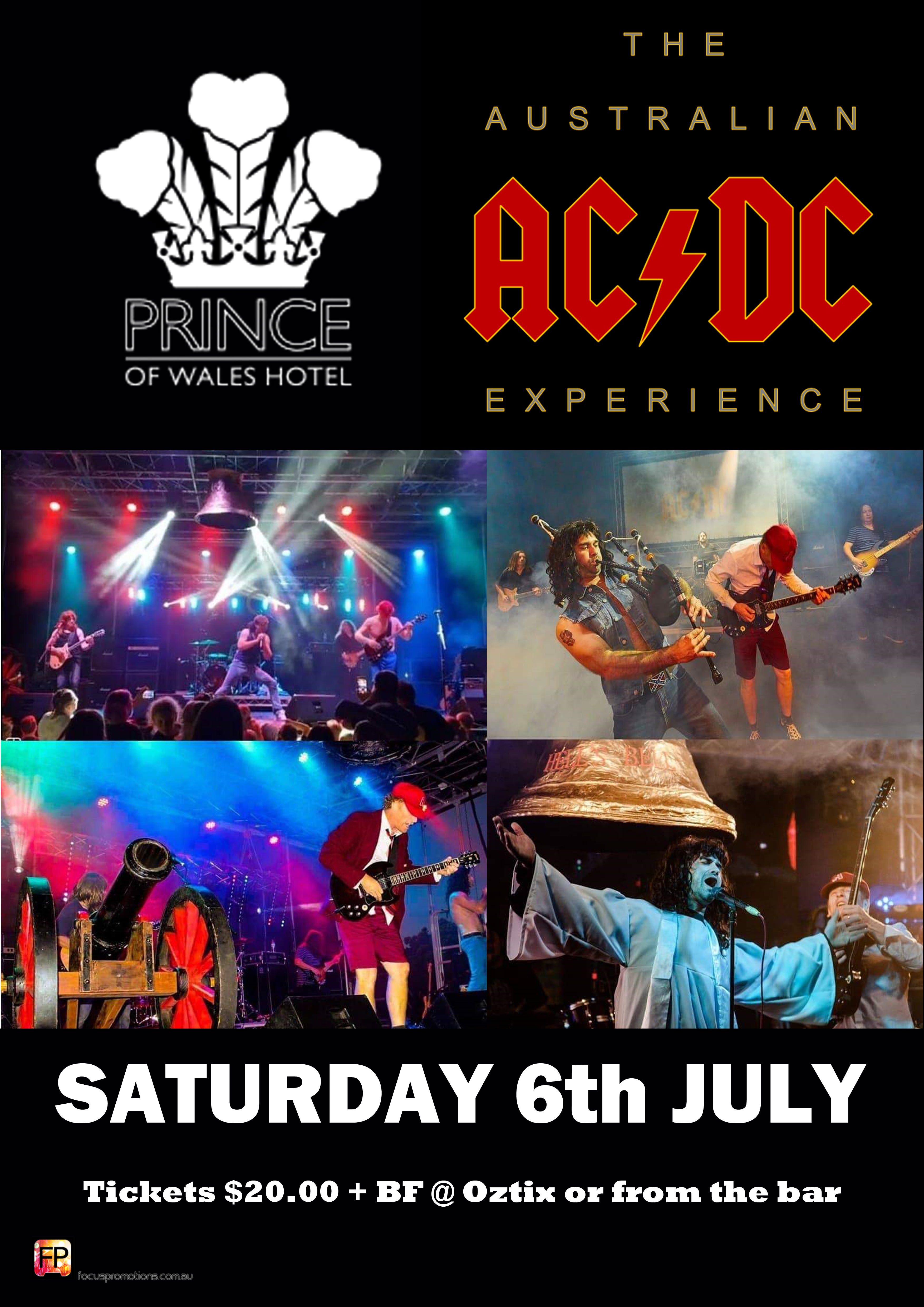 The Australian ACDC Experience venue poster portrait Prince Of Wales 2019