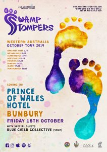 The Swamp Stompers - WA October Tour 2019 - Prince of Wales - A3 Poster