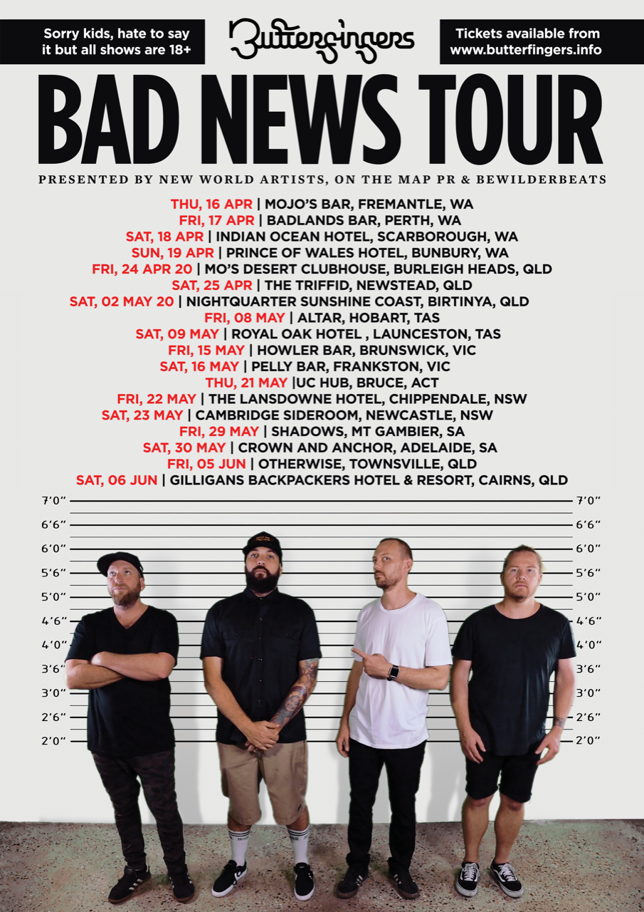 Butterfingers Bad News Tour Poster - Web Res